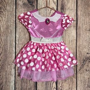 Girls Minnie Mouse Costume Size 2/3 Pink Halloween